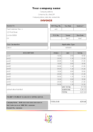 Sample Service Invoice Download Computer Service Invoice Template For Free Uniform 18