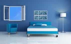 صور ديكور غرف النوم بالون الازرق 2015