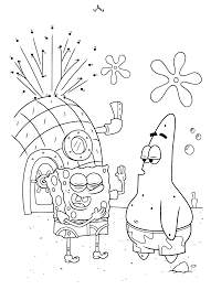 Kleurplaten Paradijs Kleurplaat Spongebob Squarepants En Patrick Ster