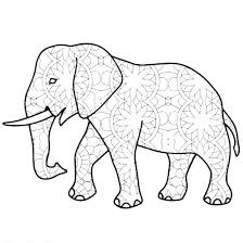 Coloring Pages Elephant Ribnicainfo
