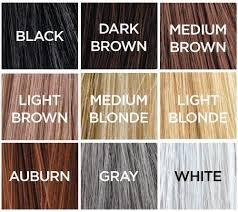 Toppik Color Chart Toppik Hair Building Fibers