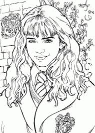 Harry Potter Coloring Page Hermoine Portrait Free Coloring Page