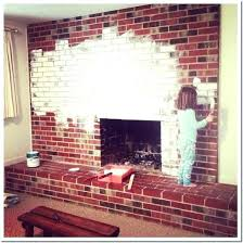 cool painted brick fireplace white white painted brick fireplace white painted brick fireplace how paint a