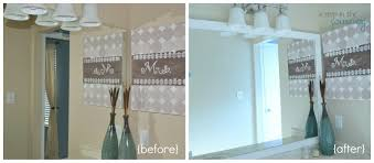 how to frame mirror in bathroom doesnt it give a finished look