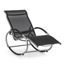 blumfeldt rocking chair deck garden home chair aluminum black reclining balcony