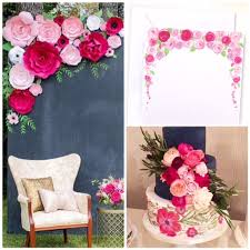 flower backdrop wedding. perfect pink flowers are used to tie the theme of this bridal shower all together. once your guests receive gorgeous invitation by michelle at mospens flower backdrop wedding e
