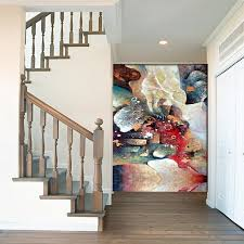 continental abstract painting style flower adornment contracte chinese wall art home decor modern paintings poster style