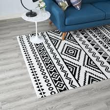 freedman geometric tribal black white area rug and rugs outdoor australia ivy