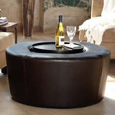 leather coffee table with storage shapes