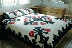 Quilt Comforter & Hawaiian Quilt Comforter<br>Y10 Anthuriums ... Adamdwight.com