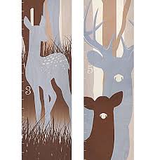 Amazon Com Deer Family Wooden Growth Chart Woodland