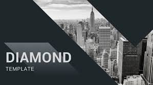 Diamond Powerpoint Template Business Cool Creative Currency
