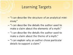 analyzing the model analytical mini essay ppt video online  learning targets i can describe the structure of an analytical mini essay