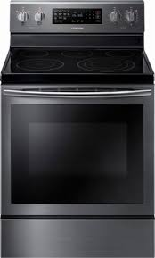 samsung black stainless stove. Brilliant Black Samsung  59 Cu Ft SelfCleaning Freestanding Electric Convection Range  Black In Stainless Stove A