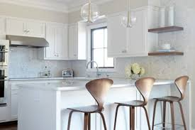kitchen peninsula lighting. White Colored Kitchen Peninsula With Seating And Glass Ball Pendant Lights Above Lighting I
