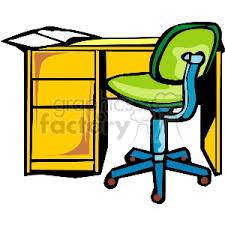 office desk with chair clipart. Beautiful Desk RoyaltyFree Deskchair 147551 Clip Art Images Illustrations And Royalty  Free Image   EPS Illustration  GraphicsFactorycom In Office Desk With Chair Clipart C