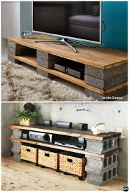 cinder block furniture. Fine Furniture DIY Cinder Block TV Stand Console10 Concrete Furniture Projects Intended R