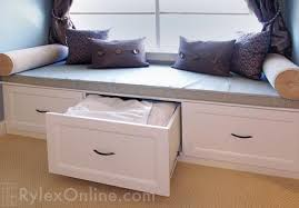 Window seat with storage Plans Bedroom Storage Bench Bedroom Window Seat With Drawer Storage Rylex Custom Cabinetry Closets Window Seat Bench Warwick Rylex Custom Cabinetry