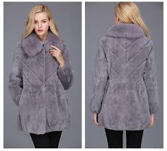 1703037 rex rabbit fur coat with fox fur collar eileenhou ailin fur 27