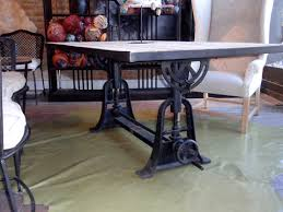 Walsh Industrial Style Galvanized Table Top 6 Piece Dining Table Industrial Look Dining Table