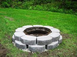 image of building a fire pit with