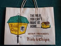 arthur treachers fish and chips arthur treachers fish chips shopping bag so is this coo flickr