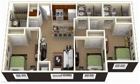 best 3 bedroom house plans 3d design with 3 bathroom house design ideas 3 bedroom house