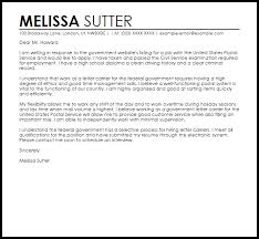 Government Job Cover Letter Example Cover Letter Samples Cover