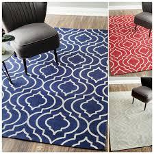 nuloom flat weave modern geometric printed trellis various colors cotton rug