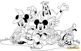 Small Picture Halloween Coloring Pages Mickey Mouse Coloring Pages