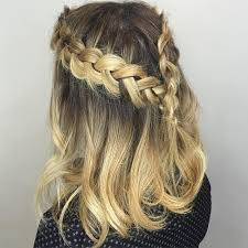 hairstyles for wedding guest. half updo with two braids hairstyles for wedding guest t