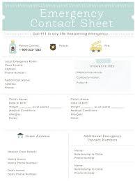 Babysitter Contact Sheet Under Fontanacountryinn Com