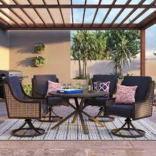 target threshold outdoor dining set. fabron 5-piece wicker patio dining set - threshold™ target threshold outdoor