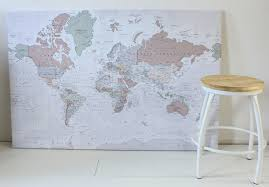 Wereldkaart Op Canvas Een Leuk Idee Cindy Brand Rep