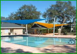 patio with square pool. Great Inspiring Colorful Outdoor Pool Shade Square Canopy Cover Over Green Pools As Patio Furnishing Decors With Pools. O