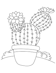 Small Picture Tall tree like cactus coloring page Download Free Tall tree like