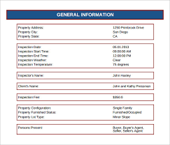 12 Sample Home Inspection Reports Docs Word Pages