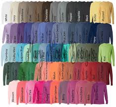 Comfort Colors 6014 All Color Chart Etsy Color Chart Tshirt Color Chart Comfort Color Digital File Shirt Color Chart