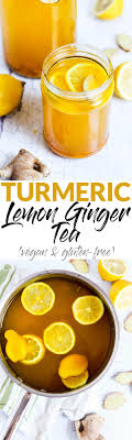 Amp up your morning routine with this warm, nourishing Turmeric Lemon  Ginger Tea! It's