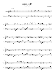 Pachelbel was a german baroque composer and organist and is best remembered for his canon in d, which is often heard at weddings. Canon In D Violin Cello Sheet Music For Violin Cello String Duet Musescore Com