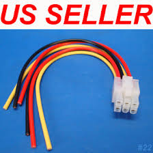 universal car audio 6 pin plug wire harness