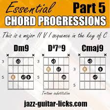 Ii V7alt I Guitar Infographic With Neck Diagrams