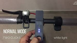 Xiaomi M365 Front Light Xiaomi Mijia M365 Change Eco Mode To Normal And Lights On