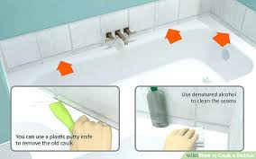 remove calk from shower image titled caulk a bathtub step 1 remove caulk from shower head