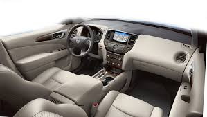 2018 nissan pathfinder interior. interesting nissan nissan pathfinder platinum shown in perforated almond leather with  optional equipment and woodtone in 2018 nissan pathfinder interior