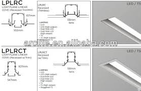 recessed strip fluorescent lighting. lightplane linear cove recessed t5 lighting trimless - lplrc strip fluorescent