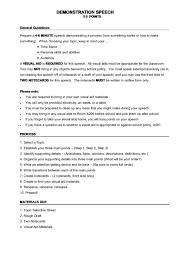Demonstration Speech Outline Top 7 Demonstration Speech Outline Templates Free To Download In Pdf