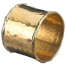 Hammered Metal Napkin Ring - Brass
