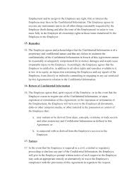 Employee Confidentiality Agreement - Fast.lunchrock.co