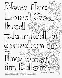 This colouring page shows jonah, thrown into the sea by his fellow sailors in an effor to calm the storm. Coloring Pages For Kids By Mr Adron Garden Of Eden Bible Verse Free Kid S Coloring Page Genesis 2 8